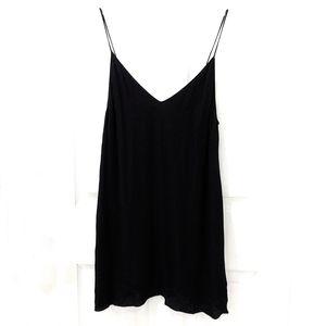 Free Aritzia Black Cami V-Neck Slip Dress sz S